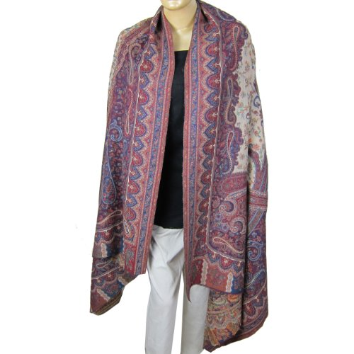 Scarves For Women India Clothing Antique Paisley Pattern Shawl Wool