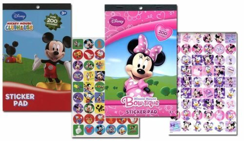 Disney Mickey Mouse Sticker Pad and Minnie Mouse Sticker Pad Set (Over 400 Stickers total!) - 1