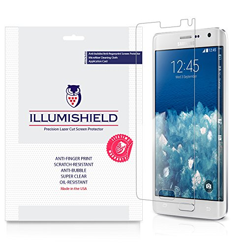 Illumishield - Samsung Galaxy Note Edge Screen Protector With Lifetime Replacement Warranty - Japanese Ultra Clear Hd Film With Anti-Bubble And Anti-Fingerprint - High Quality (Invisible) Lcd Shield - [3-Pack] Oem / Retail Packaging