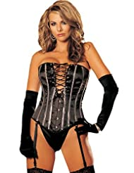 HEAVY SATIN STRAPLESS CORSET