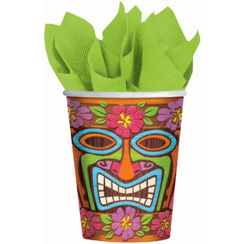 Tiki Time Paper Cup (8ct) (8 per package)