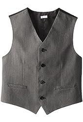 Calvin Klein Big Boys' Pin Dot Button-Front Vest
