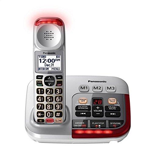 Panasonic KX-TGM450S Amplified Cordless Phone with Digital Answering Machine, 1 Handset , Silver (Panasonic Phones 1 Handset compare prices)