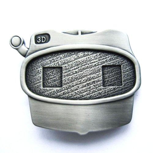 Hogar Mens Zinic Alloy Belt Buckle 3D Viewfinder Buckles Color Antique Silver