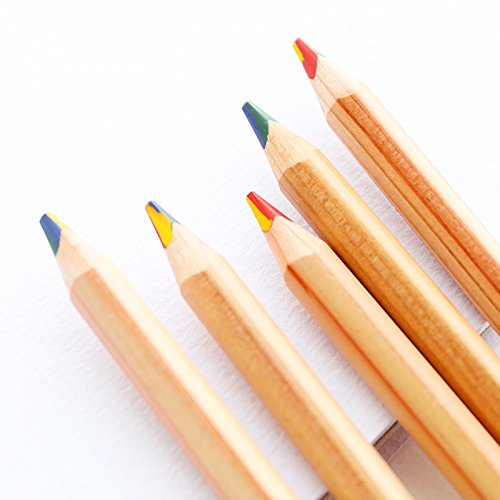 Black Menba® 4 in 1 Rainbow Colored pencils(Box of 6)