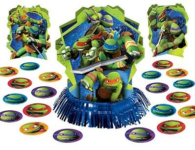 Teenage Mutant Ninja Turtles Table Decorating Kit 3pc Plus Confetti
