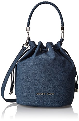Armani Jeans Women's Draw String Bucket Tote, Blue, One Size