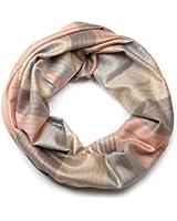 styleBREAKER edler marmorierter Streifen Muster Loop Schlauchschal, warme und weiche Qualität, Unisex 01018060