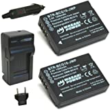 Wasabi Power Battery (2-Pack) and Charger for Panasonic DMW-BCG10, DMW-BCG10E, DMW-BCG10PP and Panasonic Lumix DMC-3D1, DMC-SZ8, DMC-TZ6, DMC-TZ7, DMC-TZ8, DMC-TZ10, DMC-TZ18, DMC-TZ19, DMC-TZ20, DMC-TZ25, DMC-TZ30, DMC-TZ35, DMC-ZR1, DMC-ZR3, DMC-ZS1, DMC-ZS3, DMC-ZS5, DMC-ZS6, DMC-ZS7, DMC-ZS8, DMC-ZS9, DMC-ZS10, DMC-ZS15, DMC-ZS19, DMC-ZS20, DMC-ZS25, DMC-ZX1, DMC-ZX3