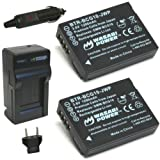 Wasabi Power Battery (2-Pack) and Charger for Panasonic DMW-BCG10 DMW-BCG10E DMW-BCG10PP and Lumix DMC-3D1 DMC-TZ6 DMC-TZ7 DMC-TZ8 DMC-TZ10 DMC-TZ18 DMC-TZ19 DMC-TZ20 DMC-TZ25 DMC-TZ30 DMC-ZR1 DMC-ZR3 DMC-ZS1 DMC-ZS3 DMC-ZS5 DMC-ZS6 DMC-ZS7 DMC-ZS8 DMC-ZS9 DMC-ZS10 DMC-ZS15 DMC-ZS19 DMC-ZS20 DMC-ZX1 DMC-ZX3