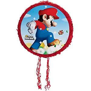 "Super Mario Bros. 18"" Pull-String Pinata Party Supplies"