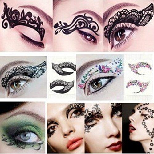 Bestmall®14 Pairs Eye Tattoo Sticker Transfer Temporary Makeup Eyeliner Eyeshadow Sexy Party