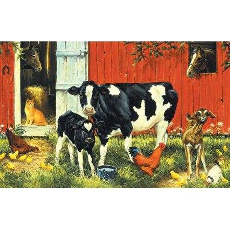 Picture of SunsOut Linda Picken Down on the Farm 100pc Jigsaw Puzzle (B001YK3N9U) (Jigsaw Puzzles)