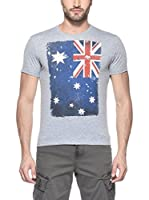 Hot Buttered Camiseta Manga Corta Flag (Gris)