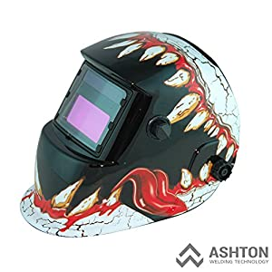 Commercial 115v Mig 130 135 Amp Automatic Feed Flux Core Gasless Welder Mig-135aw Helmet AWT-FR2 Kit by ASHTON WELDING TECHNOLOGY