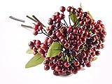 BALLERINA'S Berries Artificial Flower Bouquet (Height: 28cm; Cherry)
