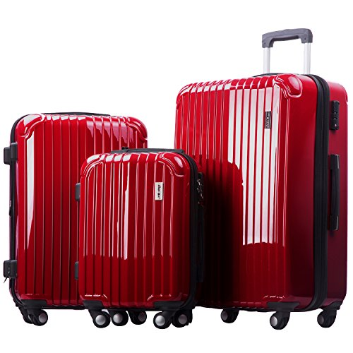 merax-dreamy-abs-pc-3-piece-expandable-luggage-set-with-tsa-lock-red