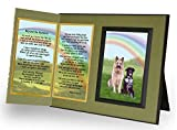 Pet Lover Remembrance Gift, Beyond the Rainbow Poem, Memorial Pet Loss Picture Frame Keepsake and Sympathy Gift Package, Includes custom photo editing option