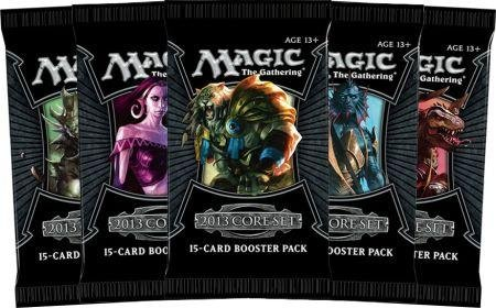 5 (Five) Packs Of Magic The Gathering - Mtg: 2013 Core Set Booster Pack Lot (5 Packs) front-481884