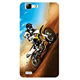 Kizil (TM) Hard Shell Designer Back Cover For Vivo V1 - (Design - Motocross)