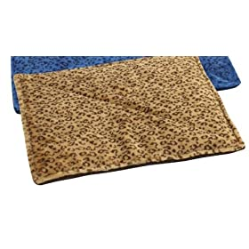 Slumber Pet Thermal Cat Mat (Beige w/Brown Designs) 22