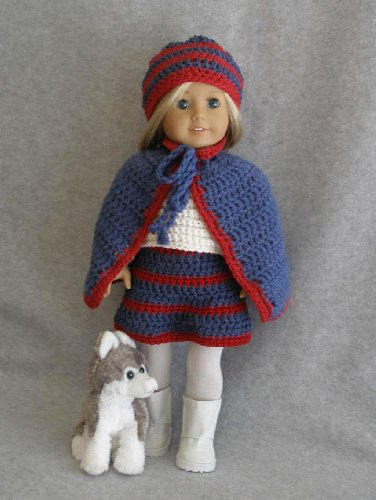 Cape & Skirt Outfit Crocheting Pattern for 18 inch dolls