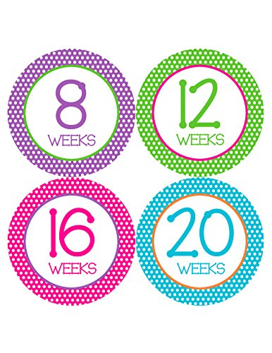 Months in Motion 903 Pregnancy Baby Bump Belly Stickers Maternity Week Sticker - 1