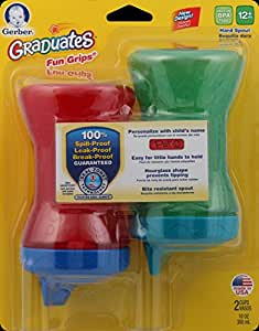 Gerber Graduates Fun Grips Hard Spout Sippy Cup in Assorted Boy Colors, 10-Ounce