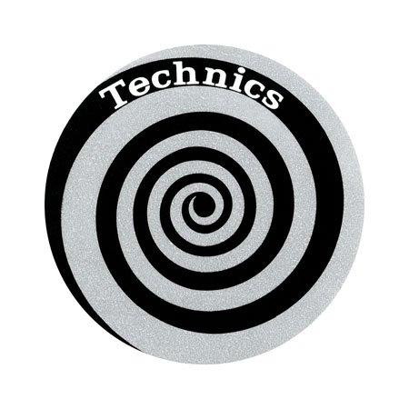 Slipmat Technics spirale argento confezione doppia