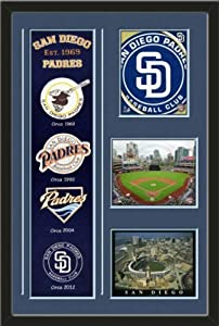 MLB San Diego Padres Banner With Logos-2011 San Diego Padres Team Logo photo, Petco... by Art and More, Davenport, IA