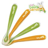 Sweet Baby Carrot Baby Spoons Absolute Highest Quality Ergonomic Design Even The Fussiest Babies & Moms Will Love. The First & Only Spoon Baby & Toddler Will Ever Need. Perfect For Everyday Eating & Feeding Gift Sets Too!