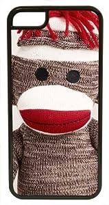 CellPowerCasesTM Sock Monkey ChromaLuxe Black Case for iPhone 5c (5c V2 Black Case)