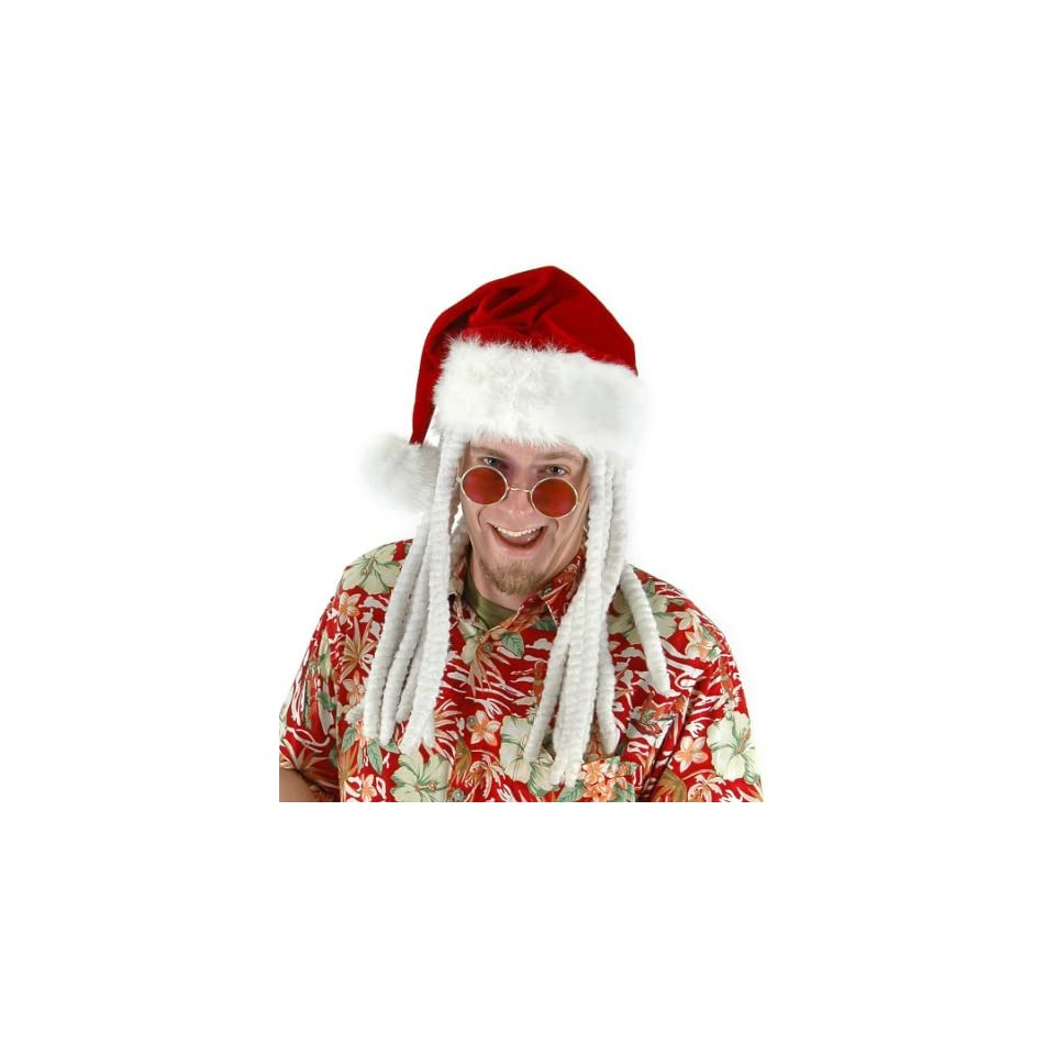 1ed7675bb084f Lets Party By Elope Dread Santa Adult Hat   White One Size on PopScreen