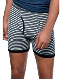 Hanes Men`s TAGLESS Striped Ringer Boxer Brief with Comfort Flex Waistband