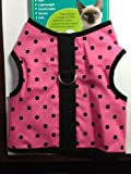 Kitty Holster Cat Harness, Small/Medium, Pink Polka Dot