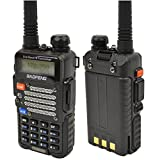 Baofeng Black UV-5R V2+ Plus Dual-Band 136-174/400-480 MHz FM Ham Two-way Radio, Improved Stronger Case, Enhanced Features (Latest 2014 Firmware)
