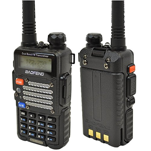 Best Prices! Baofeng UV-5R V2+ Dual-Band 136-174/400-480 MHz FM Ham Two-way Radio, Improved Stronger...