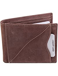 Lens Brown Genuine Leather Wallet For Man LW-008