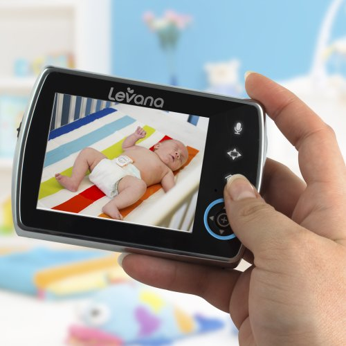 levana keera 3 5 pan titlt zoom video baby monitor with picture video record. Black Bedroom Furniture Sets. Home Design Ideas