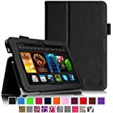 """Fintie Amazon All-New Kindle Fire HDX 7 Folio Case Cover - Auto Sleep/Wake (will only fit Kindle Fire HDX 7"""" 2013), Black"""