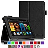 "Fintie Amazon Kindle Fire HDX 7 Folio Case Cover - Auto Sleep / Wake Feature 3 Year Warranty (will only fit Kindle Fire HDX 7""), Black"