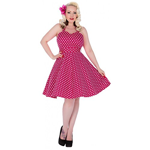 Dolly and Dotty -  Vestito  - Donna Pink mit Tupfen 42