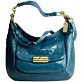 Coach Kristin Embossed Croc Extra Large Expandable Hobo Denim 16783 – Coach 16783BLU Review