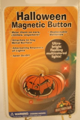 Halloween Scary Pumpkin Magnetic Button - 1