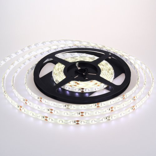 Topchances Ip65 Wsterproof Flexible Ribbon Led Strip Light For Exhibition Decoration In 300 Leds 5 Meters (16.4 Feet) Spool 12Vdc Input- White