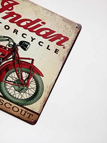 ERLOOD Metal Tin Sign Indian Motorcycle Retro Vintage Decor Metal Tin Sign 12 X 8 3