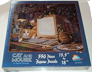 Cat and Mouse by Randal Spangler 550 Piece Jigsaw Puzzle