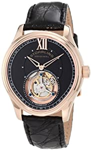 Stuhrling Original Men's 361.3345X4 Tourbillon Everest Limited Edition Mechanical Black Watch