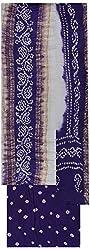MS Bandhani Women's Cotton Silk Unstitched Dress Material (MSB_3-A, Purple)