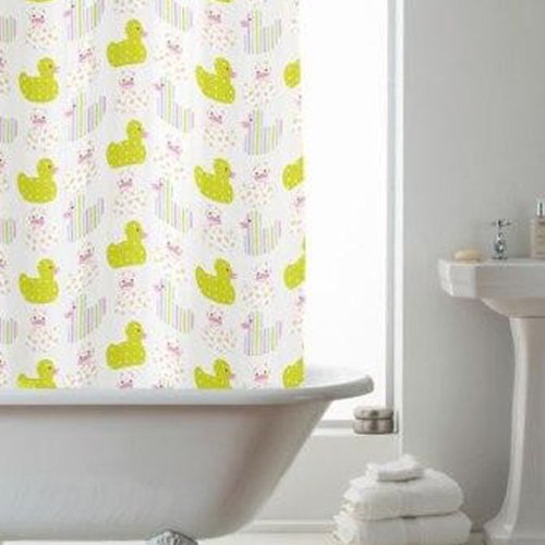 Quality Pastel Ducks Shower Curtain with Rings 100% Waterproof 180cm x180cm